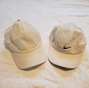 Lululemon and Nike White Strapback Hats